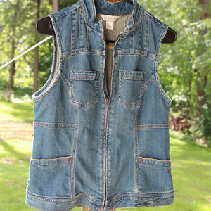 Christopher & Banks Denim Vest Size Medium